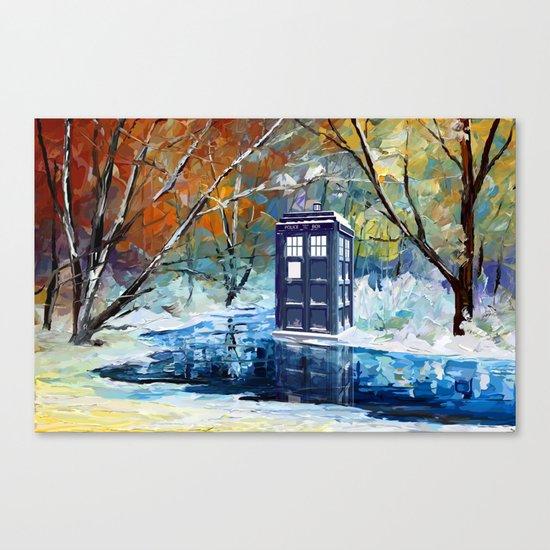 Starry Winter blue phone box Digital Art iPhone 4 4s 5 5c 6, pillow case, mugs and tshirt Canvas Print