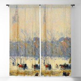 12,000pixel-500dpi - Frederick Childe Hassam - Snowstorm, Madison Square - Digital Remaster Blackout Curtain
