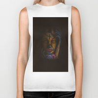 day of the dead Biker Tanks featuring Day of the Dead by Robin Curtiss