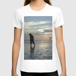 Watercolor People in Nature, NSS, Children 12, Janes Island, Maryland T-shirt