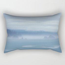 Foggy Coastline Rectangular Pillow