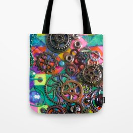 Chase the Gears Tote Bag