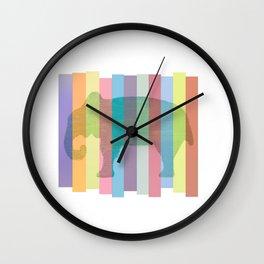 Color Elephant Wall Clock