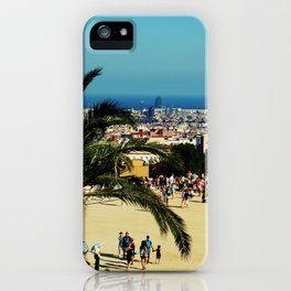 Barcelona view iPhone Case