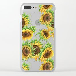 Sunflower Bouquet Clear iPhone Case