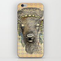 bison iPhone & iPod Skins featuring Bison by dogooder