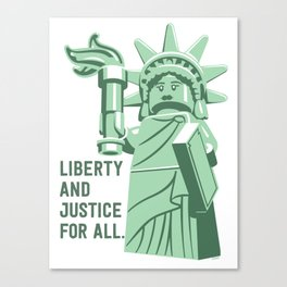 Liberty and Justice Canvas Print