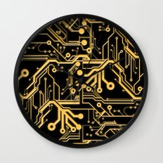 Techno Organic  Wall Clock