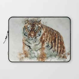 Tiger in the snow Laptop Sleeve