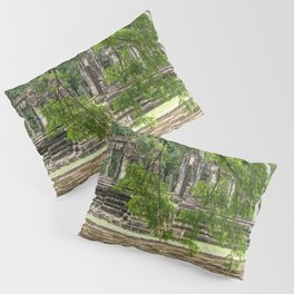 Pool & Structure of Baphuon Temple I, Angkor Thom, Siem Reap, Cambodia Pillow Sham