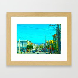 San Francisco Union St. Framed Art Print