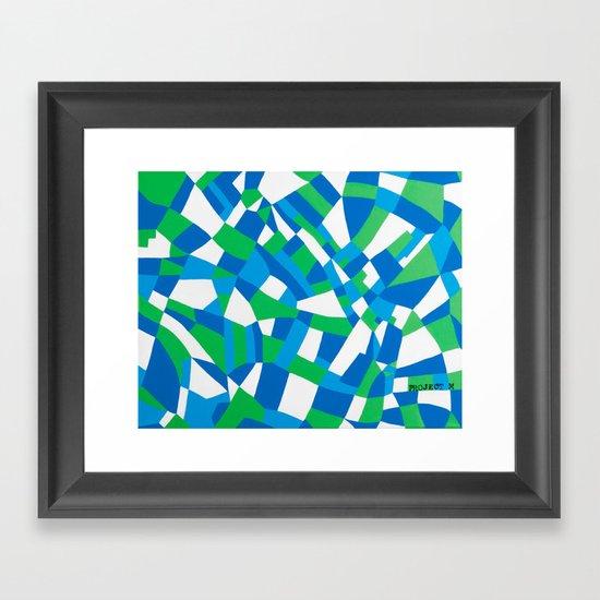 London Green Framed Art Print