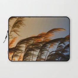 Sunset in autumn. Pampa grass Laptop Sleeve