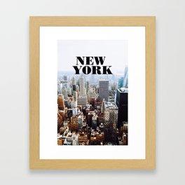 Hello, New York! Framed Art Print