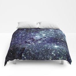 The Eagle Nebula / Pillars of Creation Midnight Indigo Teal Blue Comforters