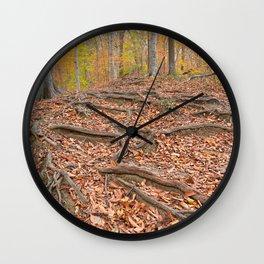 Autumn Avalon Forest Trail Wall Clock