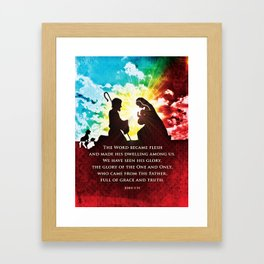 We Have Seen His Glory! Framed Art Print