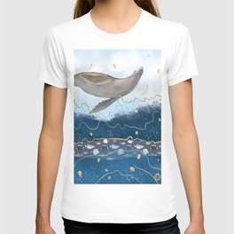 Flying Seal - Rising Waters Surreal Climate Change  T-shirt