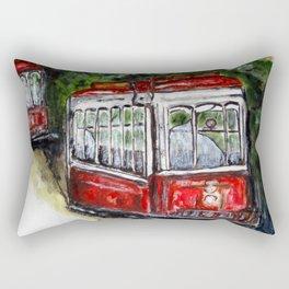 Abandoned Trolley Rectangular Pillow