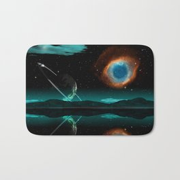Mountain Earth and Milkway Bath Mat