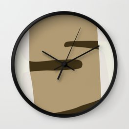 The invisible S Wall Clock
