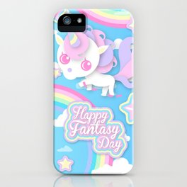 Happy Unicorn iPhone Case