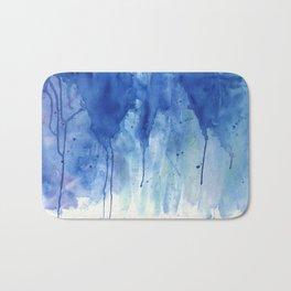 Crackling blue Bath Mat