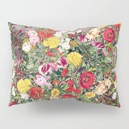 Maximalist Shabby Chic Lush Floral Pillow Sham
