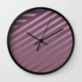 Variation of pattern by grey tones 2 Wall Clock