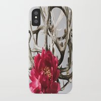 antler iPhone & iPod Cases featuring Antler Flower by Jodi Kassowitz Photography