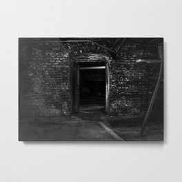I Sit And Think - Old Ohio Basement Metal Print