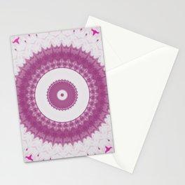 Amethyst & Hot Pink Gemstone Liquid White Smoke Kaleidoscope 6 Digital Painting Stationery Cards