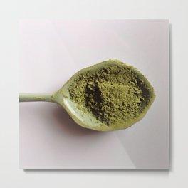 Green Tea Matcha Love  Metal Print