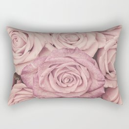 Some People Grumble - Pink Rose Pattern - Roses Rectangular Pillow