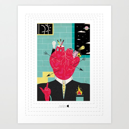 Lovers gonna love, Haters gonna hate Art Print