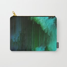 Aurora Borealis - Abstract Glitchy Pixel Art Carry-All Pouch