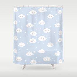 Kawaii cloud pattern Shower Curtain