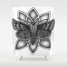Moth Mandala Shower Curtain