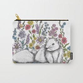 Squirrel in the midst of Flowers Carry-All Pouch
