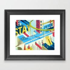 STAY PETER Town Framed Art Print