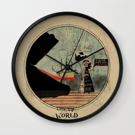 Sea monsters eat all travelers Wall Clock