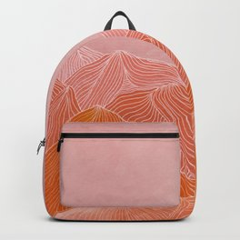Lines in the mountains - pink II Backpack