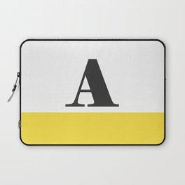 Monogram Letter A-Pantone-Buttercup Laptop Sleeve