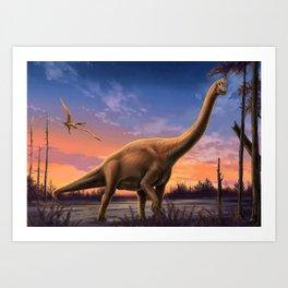 Jurassic Dinosaurs Art Print