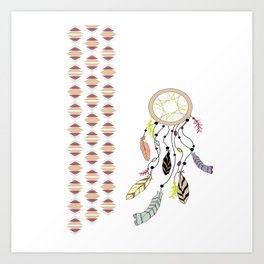 Drifting Dreamcatcher Art Print
