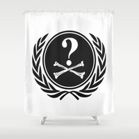 anonymous Shower Curtains featuring Anonymous community by Komrod