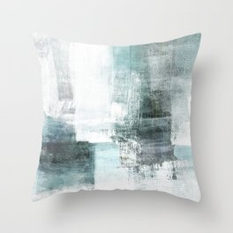 Atmospheric Contemporary Abstract Landscape Painting Throw Pillow