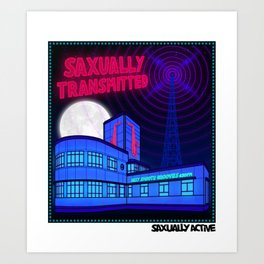 Saxually Transmitted Art Print
