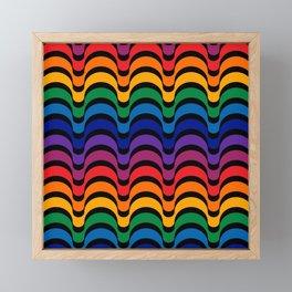 Spectrum Dips Framed Mini Art Print
