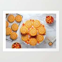 Halloween Candy Corn Cookies Art Print